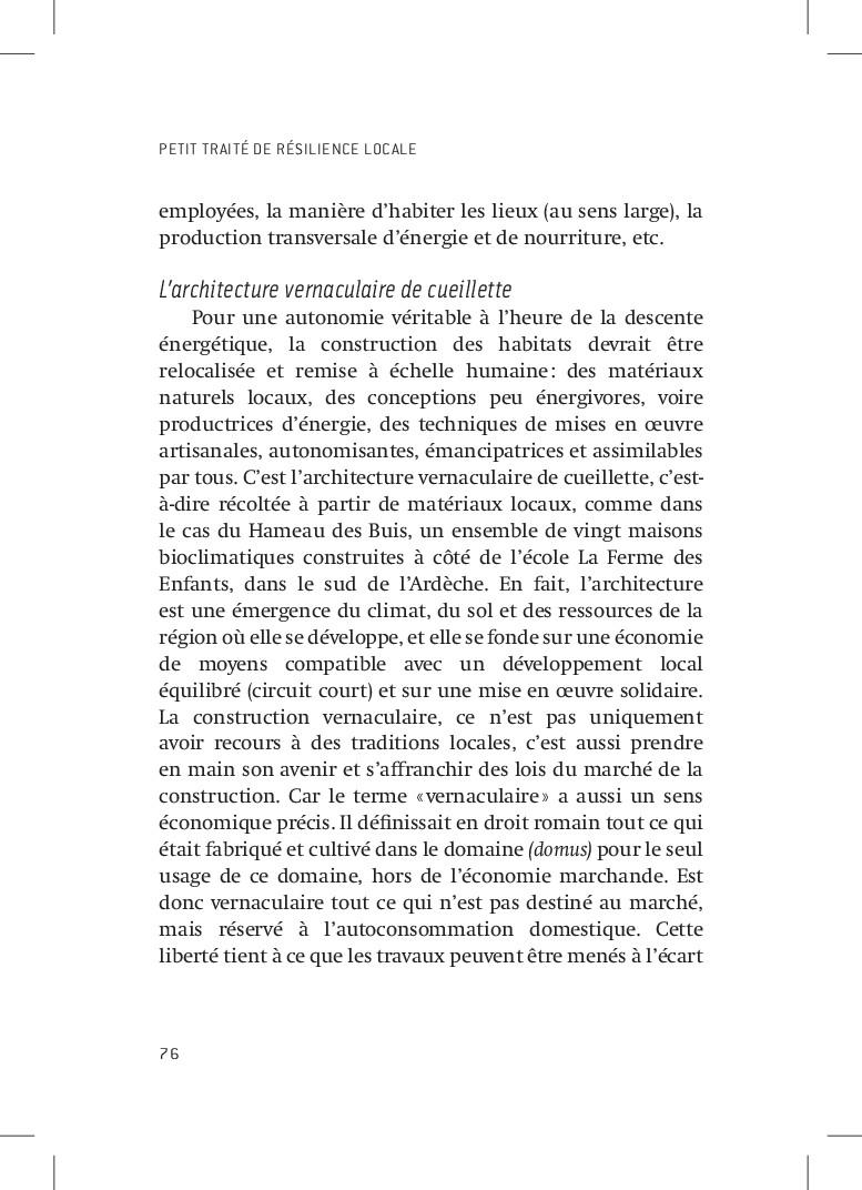 PETIT TRAITÉ DE RÉSILIENCE LOCALE 76 employées,...