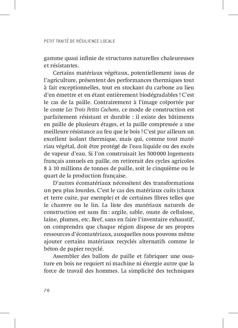 PETIT TRAITÉ DE RÉSILIENCE LOCALE 78 gamme quas...