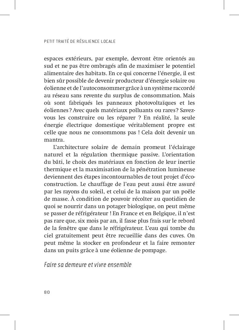 PETIT TRAITÉ DE RÉSILIENCE LOCALE 80 espaces ex...