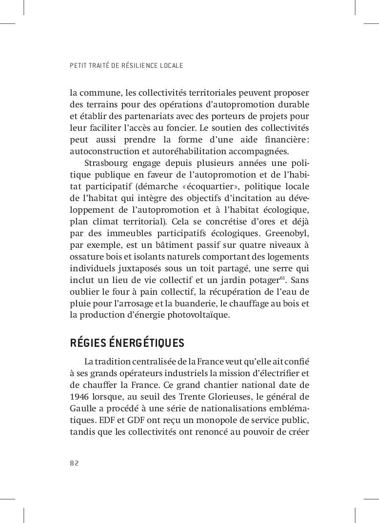 PETIT TRAITÉ DE RÉSILIENCE LOCALE 82 la commune...