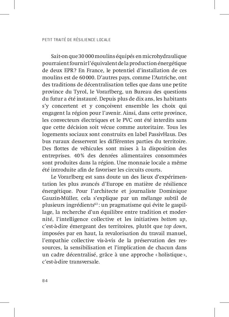 PETIT TRAITÉ DE RÉSILIENCE LOCALE 84 Sait-on qu...