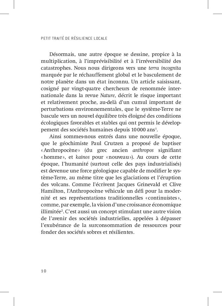 PETIT TRAITÉ DE RÉSILIENCE LOCALE 10 Désormais,...