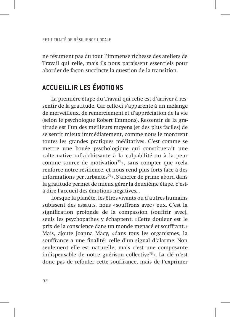 PETIT TRAITÉ DE RÉSILIENCE LOCALE 92 ne résumen...