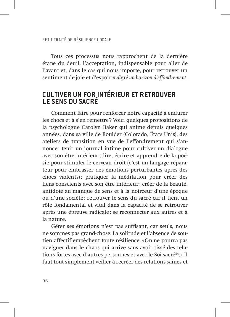 PETIT TRAITÉ DE RÉSILIENCE LOCALE 96 Tous ces p...