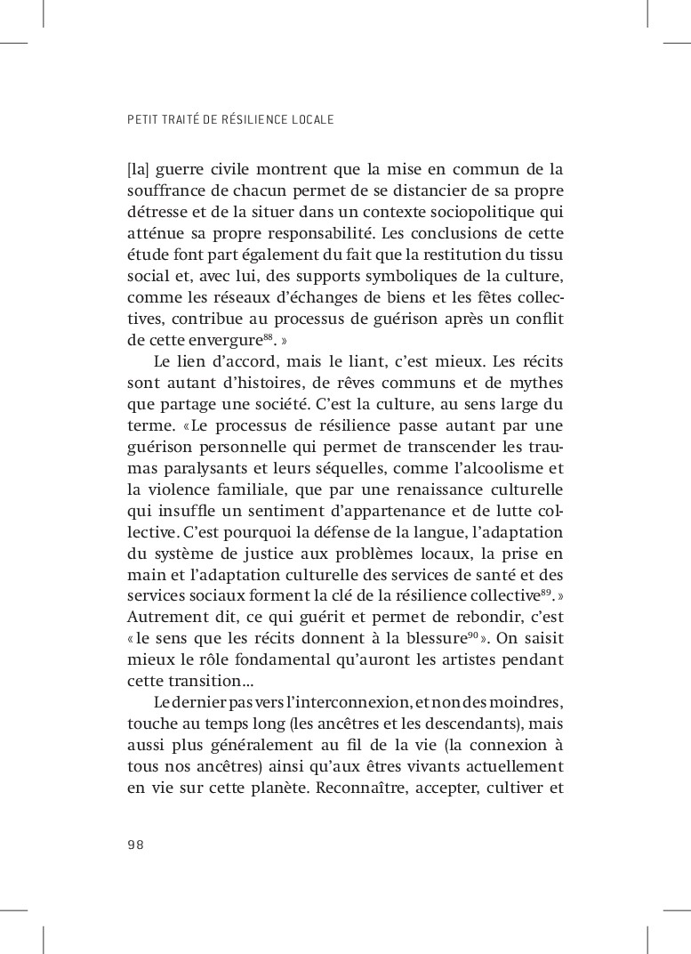 PETIT TRAITÉ DE RÉSILIENCE LOCALE 98 [la] guerr...