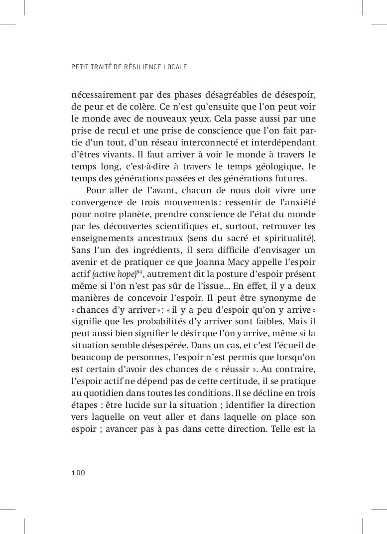 PETIT TRAITÉ DE RÉSILIENCE LOCALE 100 nécessair...
