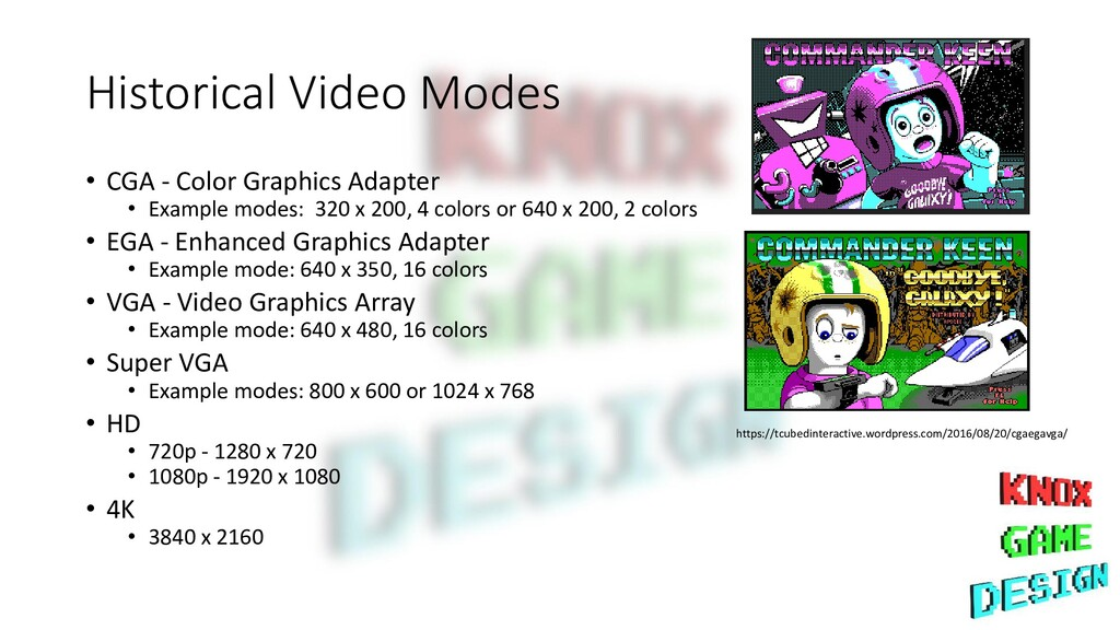 Historical Video Modes • CGA - Color Graphics A...