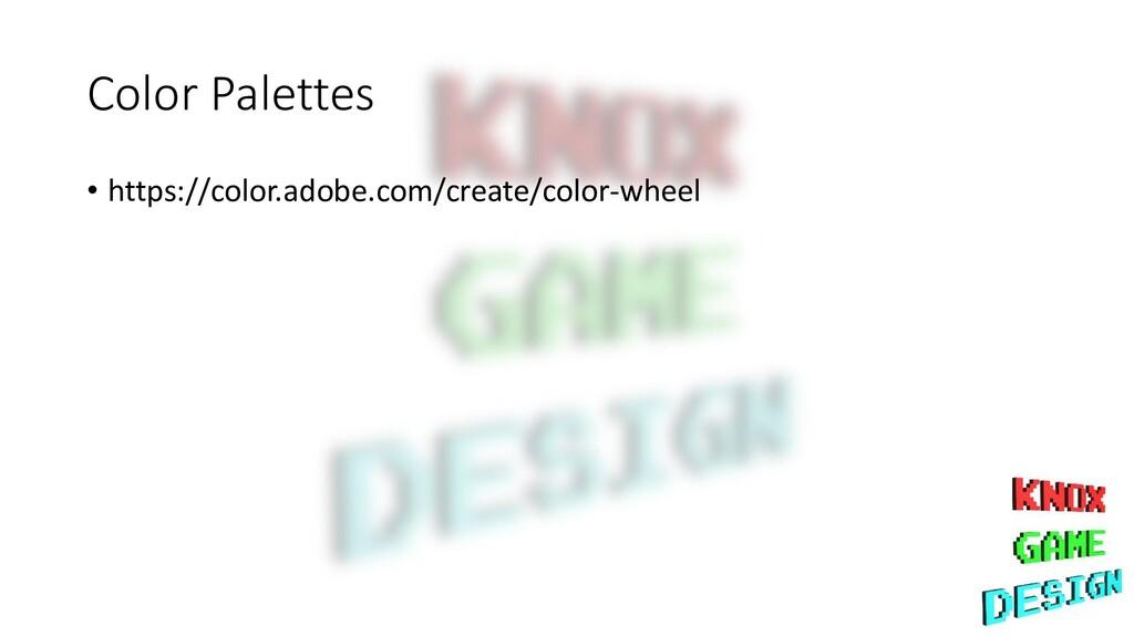 Color Palettes • https://color.adobe.com/create...