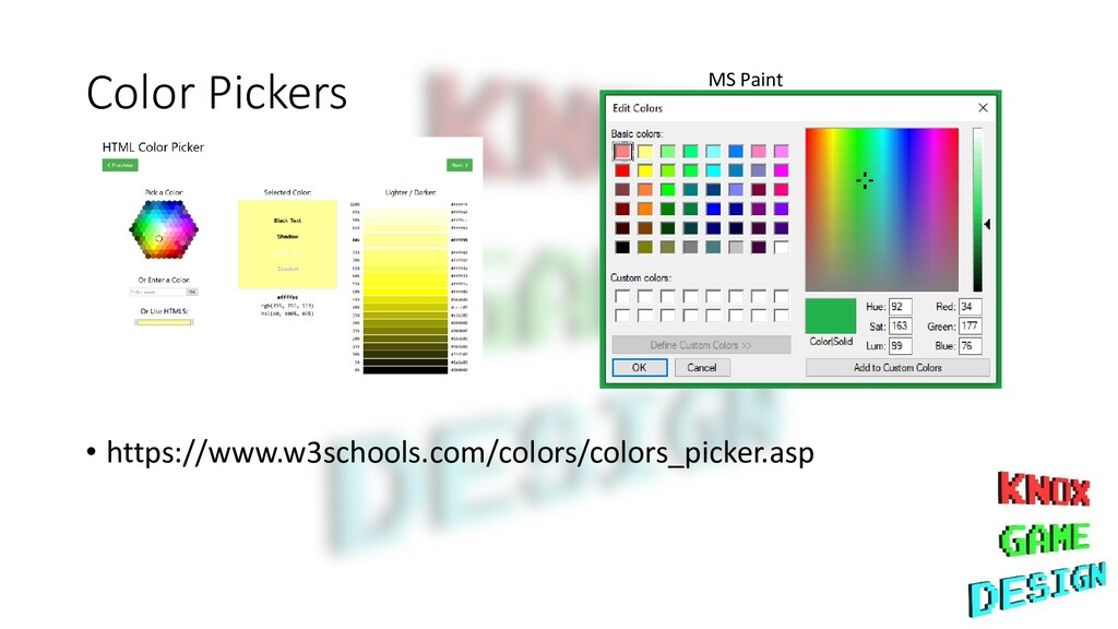 Color Pickers • https://www.w3schools.com/color...