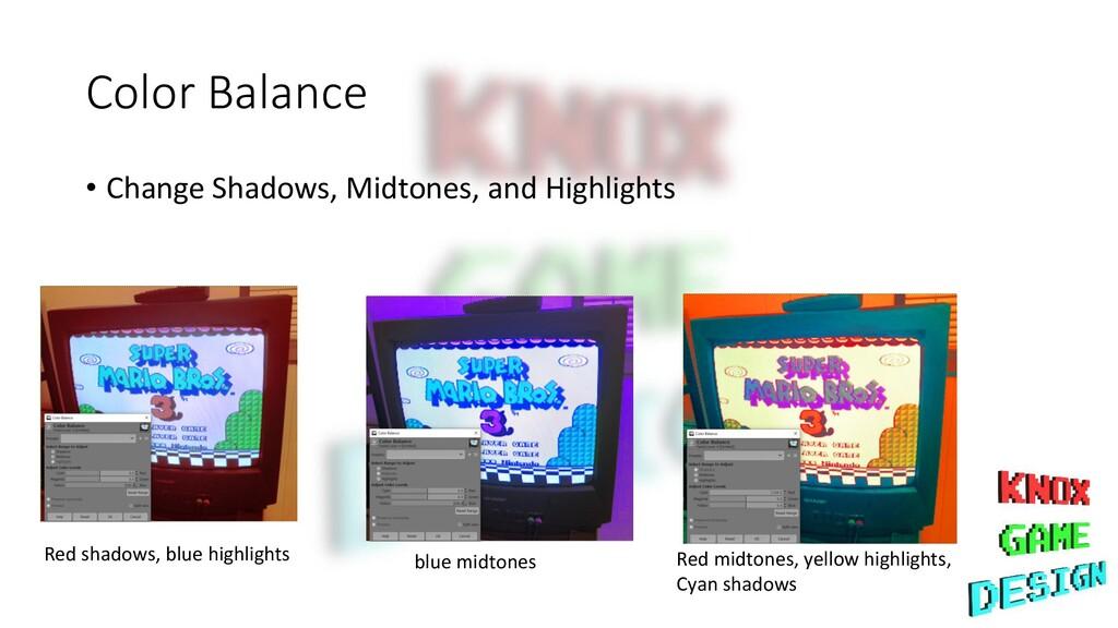 Color Balance • Change Shadows, Midtones, and H...