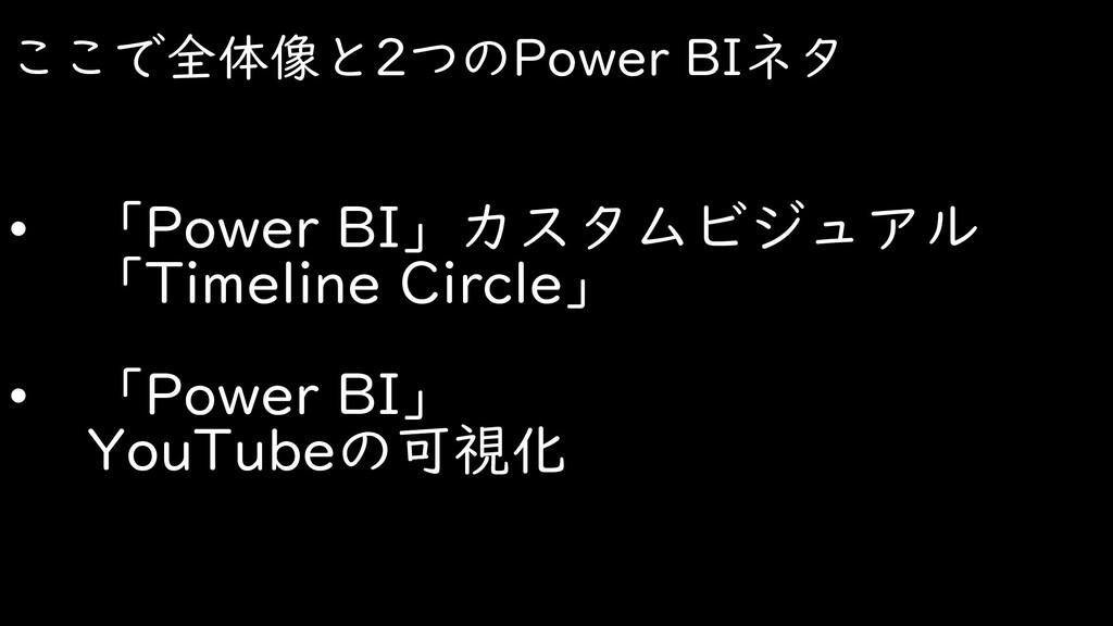 ここで全体像と2つのPower BIネタ • 「Power BI」カスタムビジュアル 「Tim...