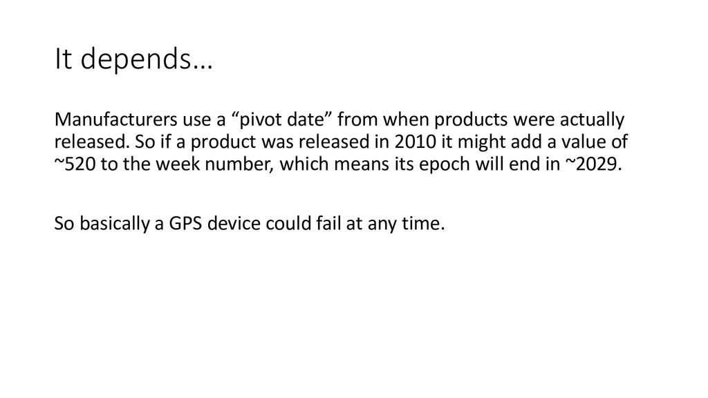 """It depends… Manufacturers use a """"pivot date"""" fr..."""