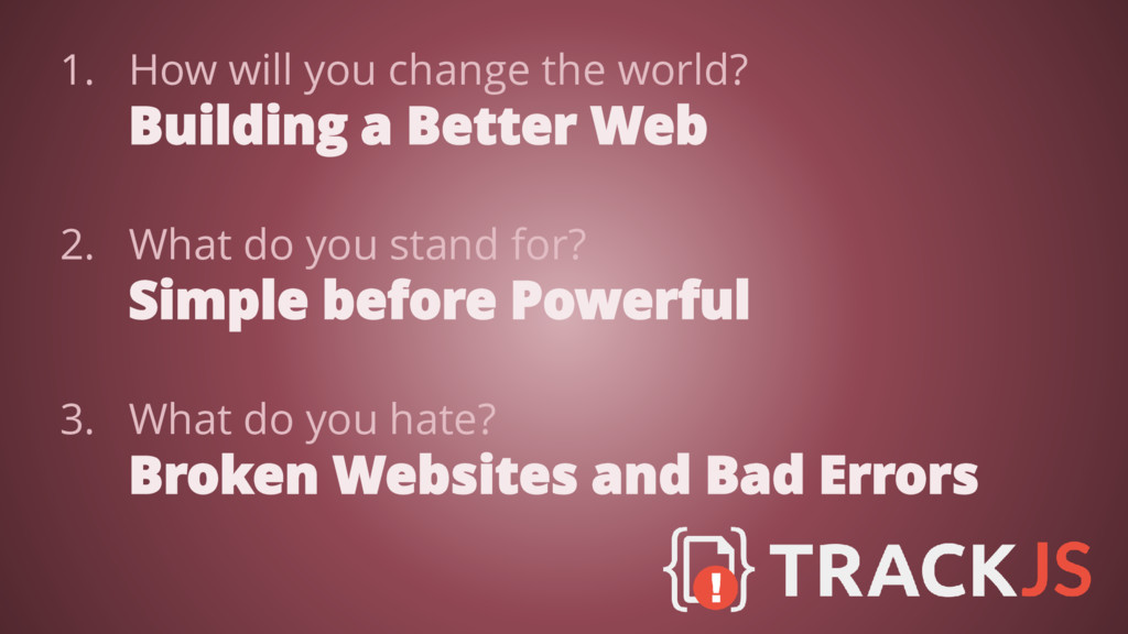 1. How will you change the world? Building a Be...