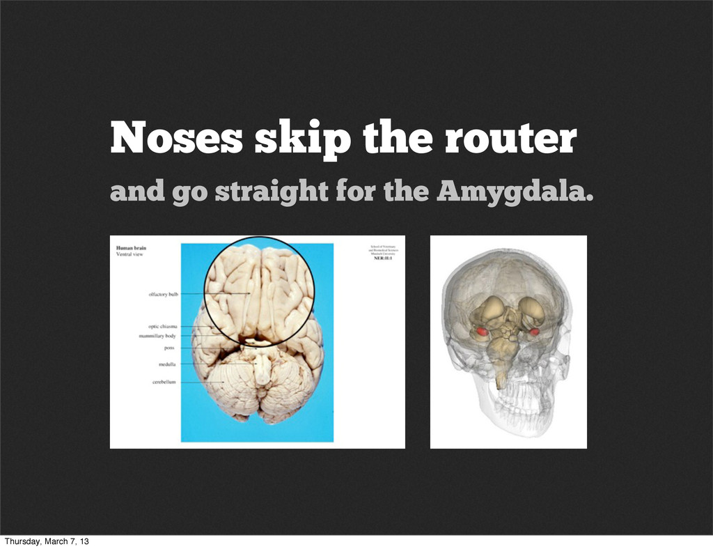 Noses skip the router and go straight for the A...