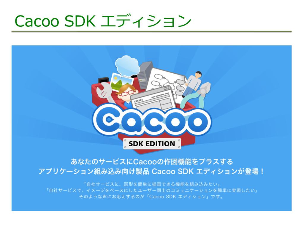Cacoo SDK エディション