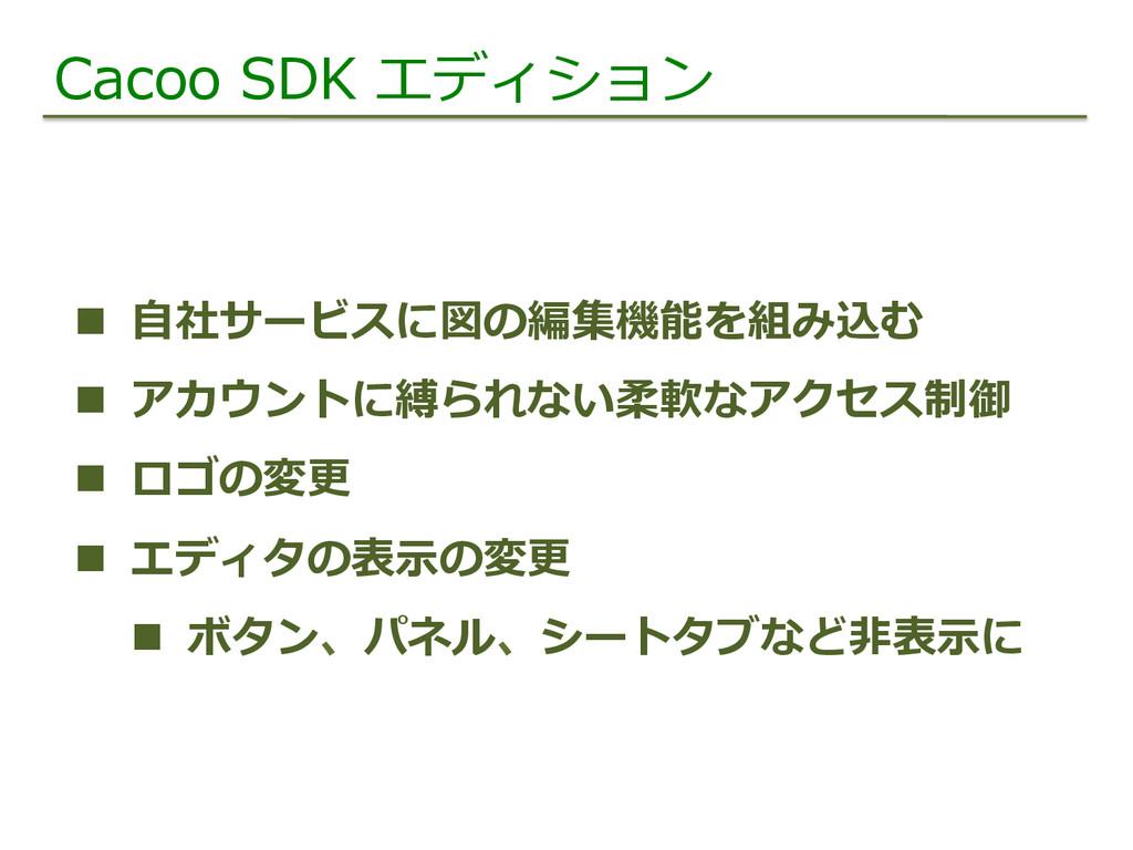 Cacoo SDK エディション n ⾃自社サービスに図の編集機能を組み込む n ...