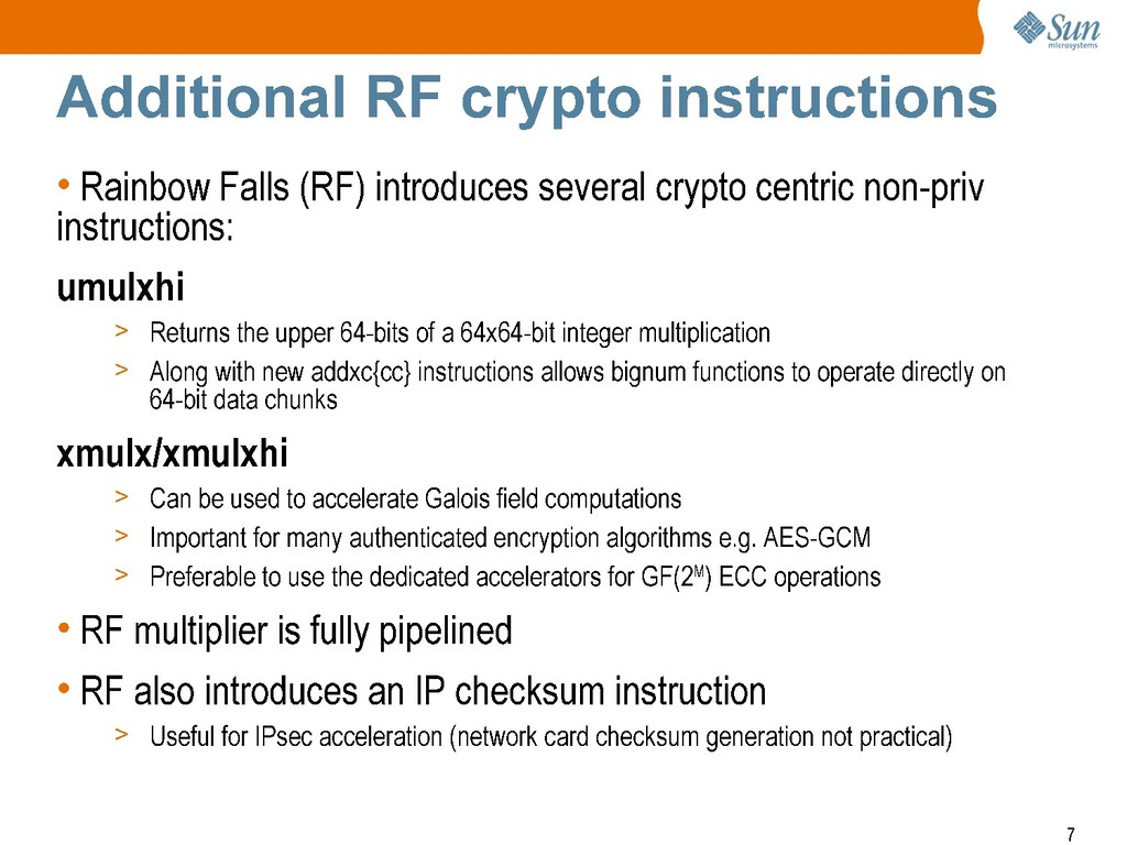 Additional RF crypto instructions • Rainbow Fal...