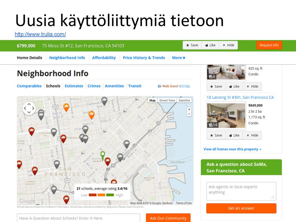 Uusia käyttöliittymiä tietoon http://www.trulia...