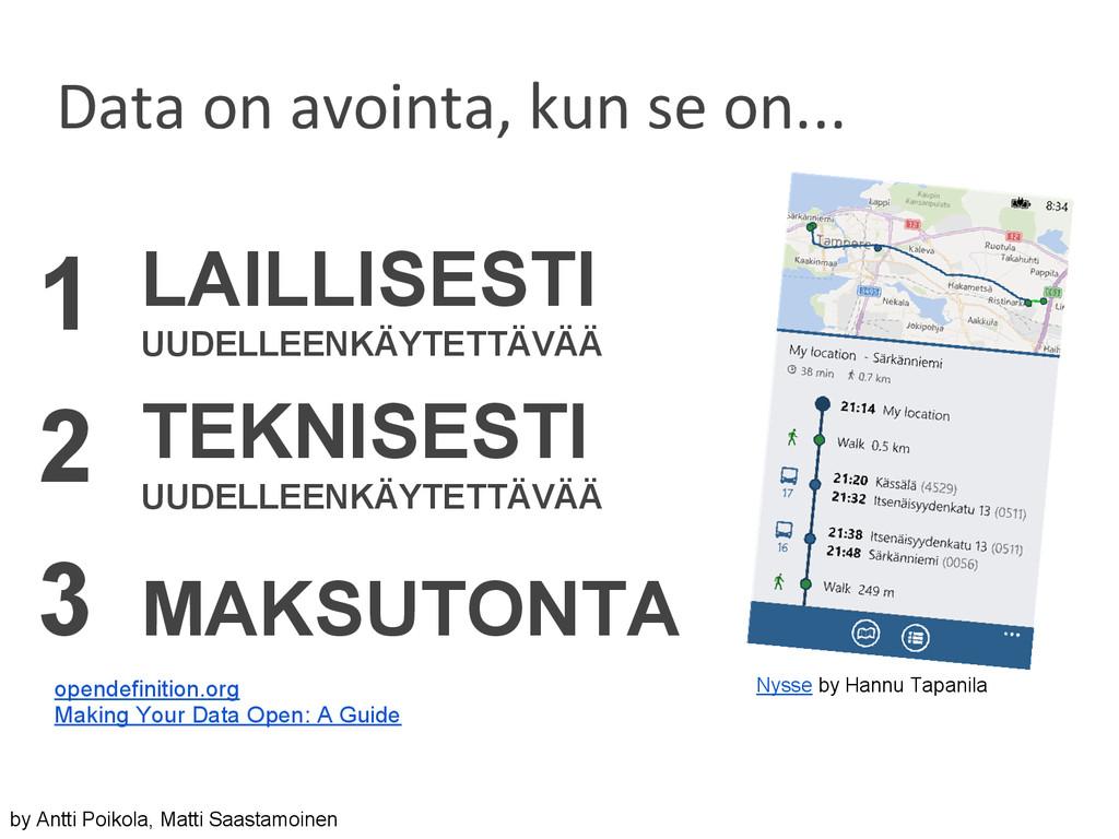 Nysse by Hannu Tapanila 1 LAILLISESTI UUDELLEEN...