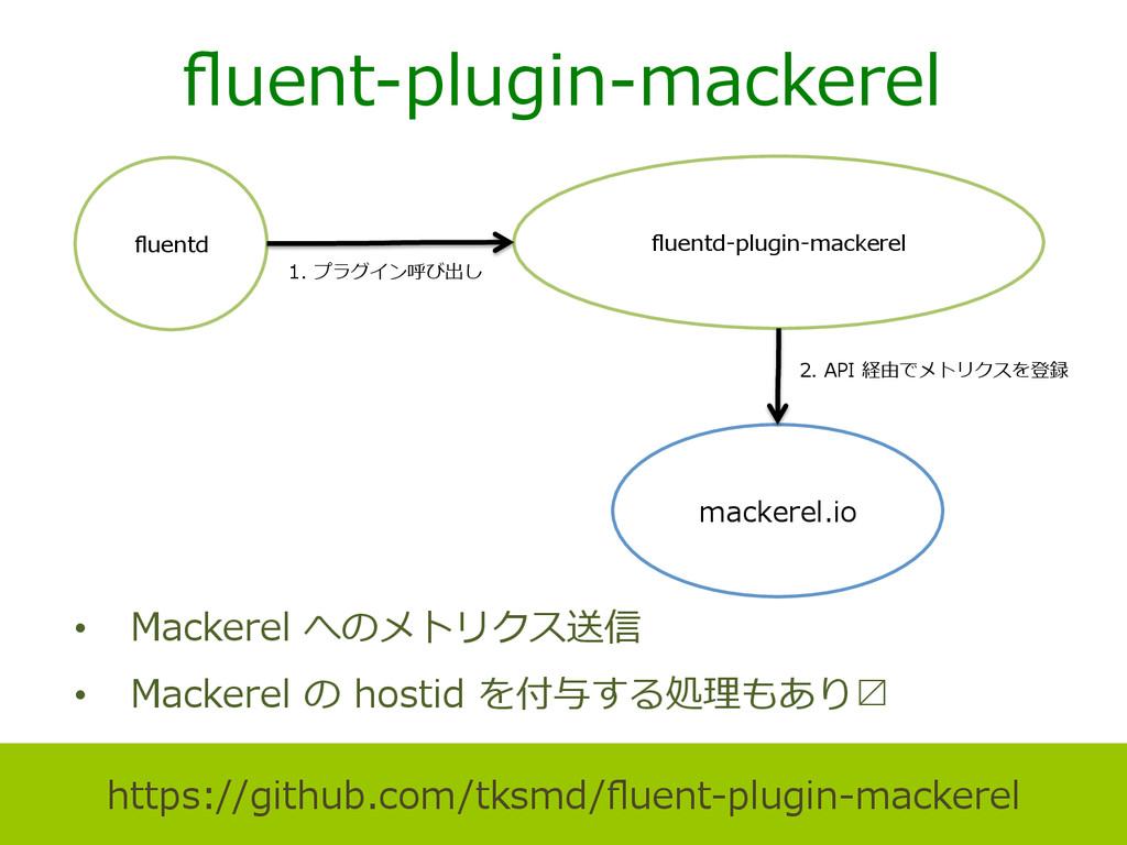 fluent-‐‑‒plugin-‐‑‒mackerel • Mackerel へのメトリク...