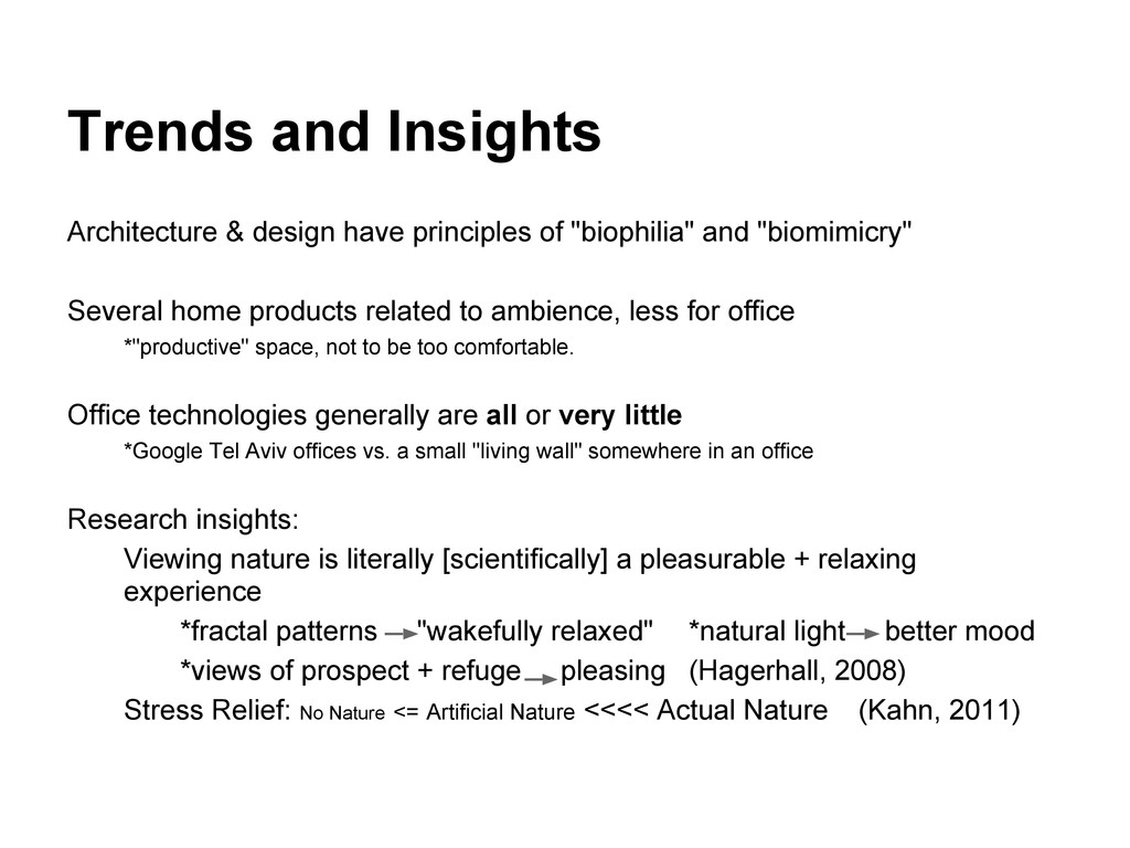 Trends and Insights Architecture & design have ...