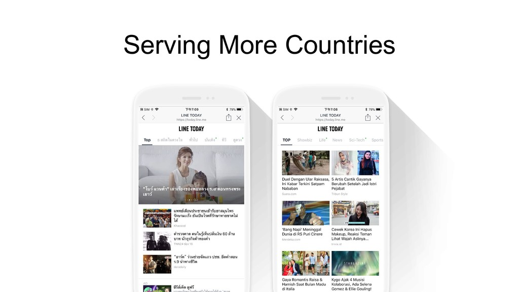 Serving More Countries