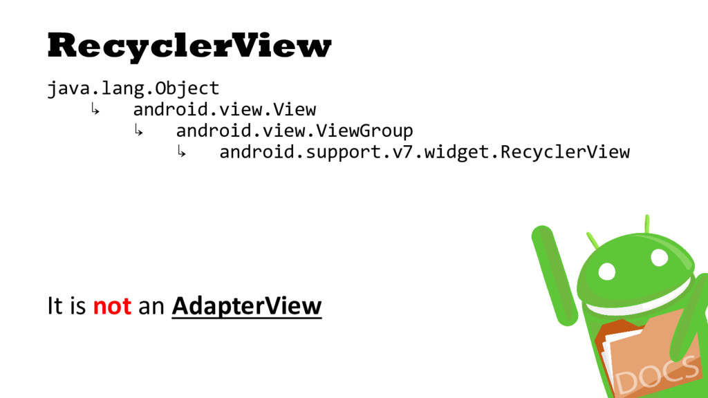 RecyclerView java.lang.Object ↳ android.view.Vi...