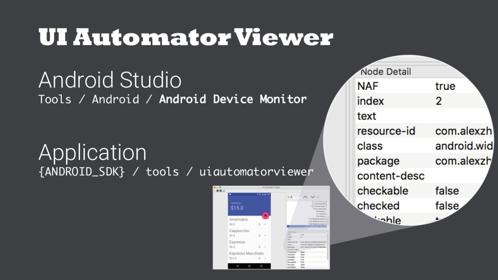 UI AutomatorViewer Android Studio Tools / Andro...