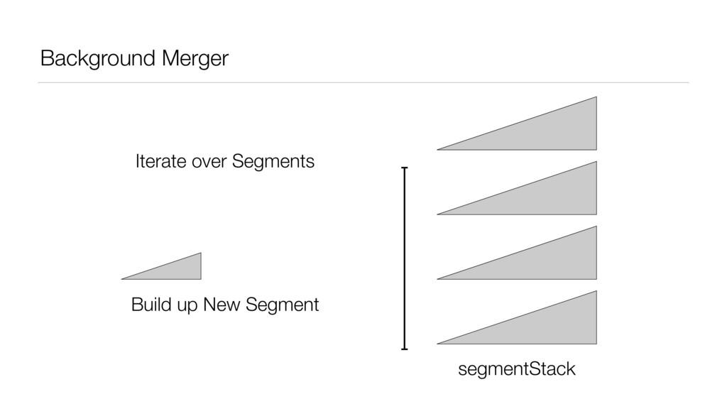 Background Merger segmentStack Iterate over Seg...