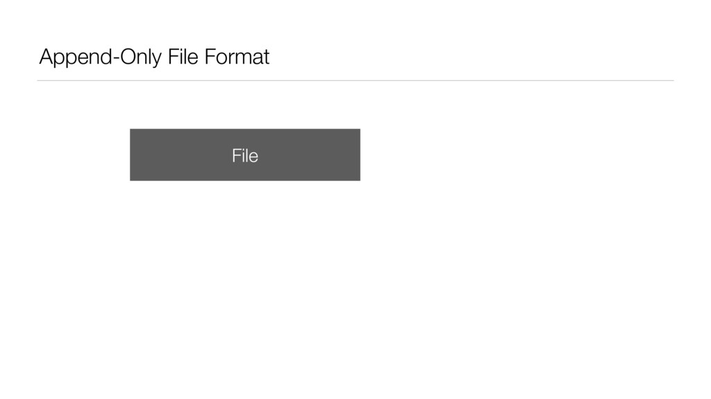 Append-Only File Format File