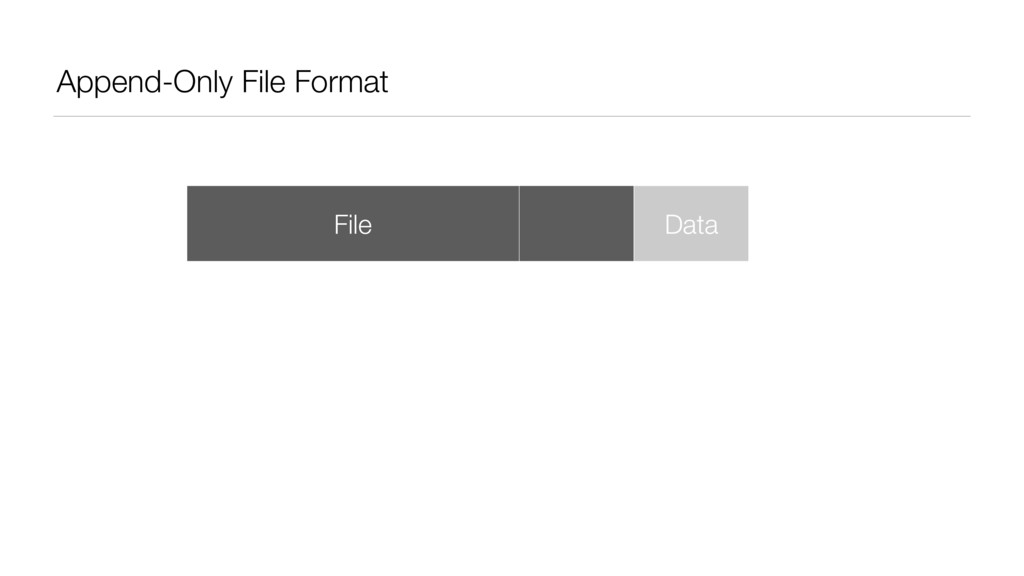 Append-Only File Format File Data Data