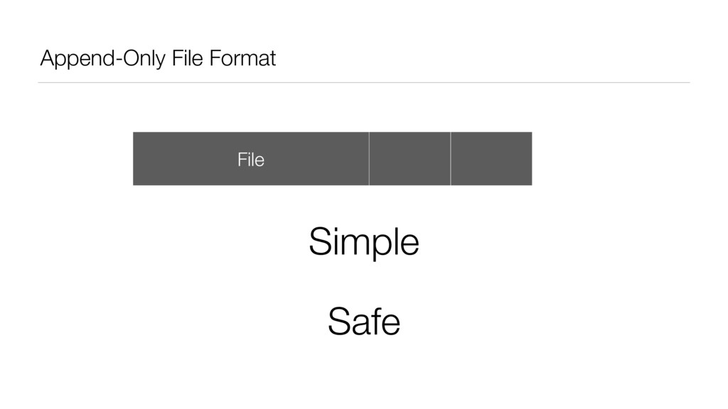 Append-Only File Format File Data Data Simple S...