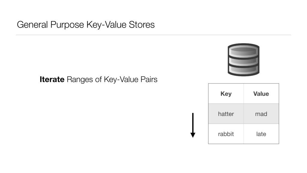 General Purpose Key-Value Stores Key Value hatt...