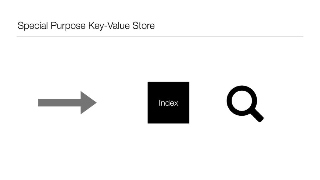 Special Purpose Key-Value Store Index