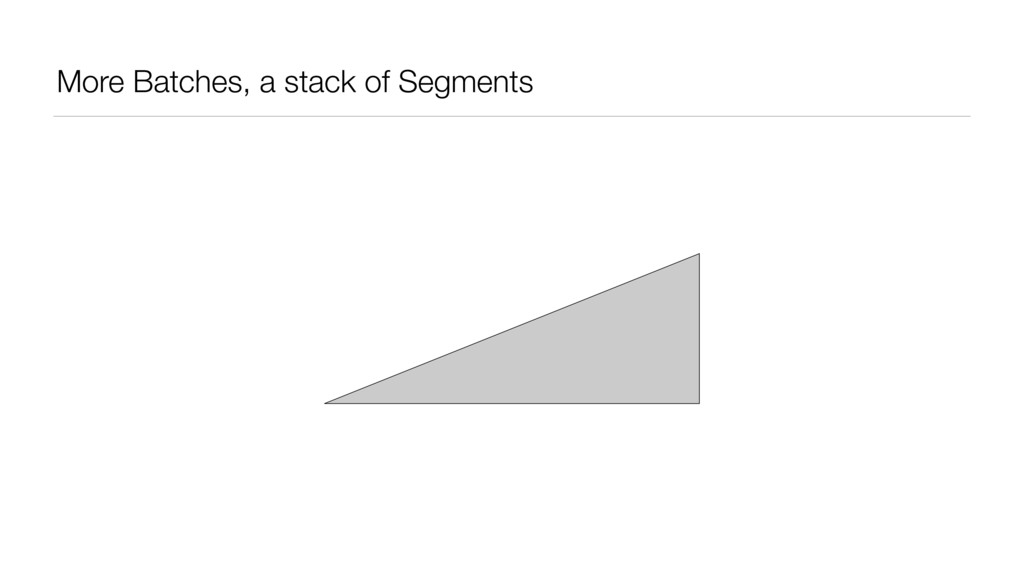 More Batches, a stack of Segments
