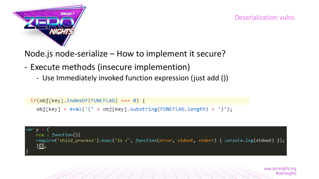 Node.js node-serialize – How to implement it se...