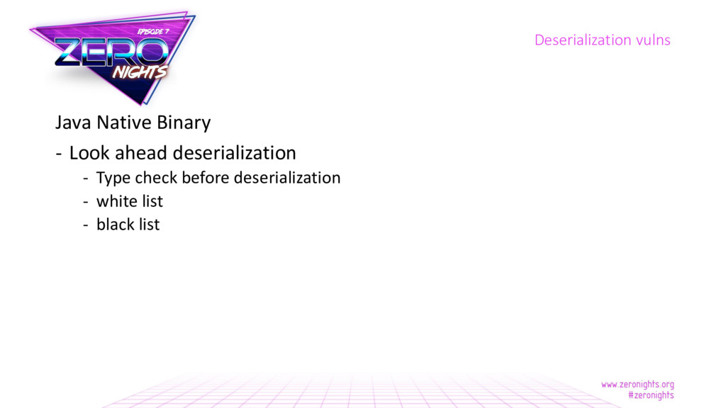 Java Native Binary - Look ahead deserialization...