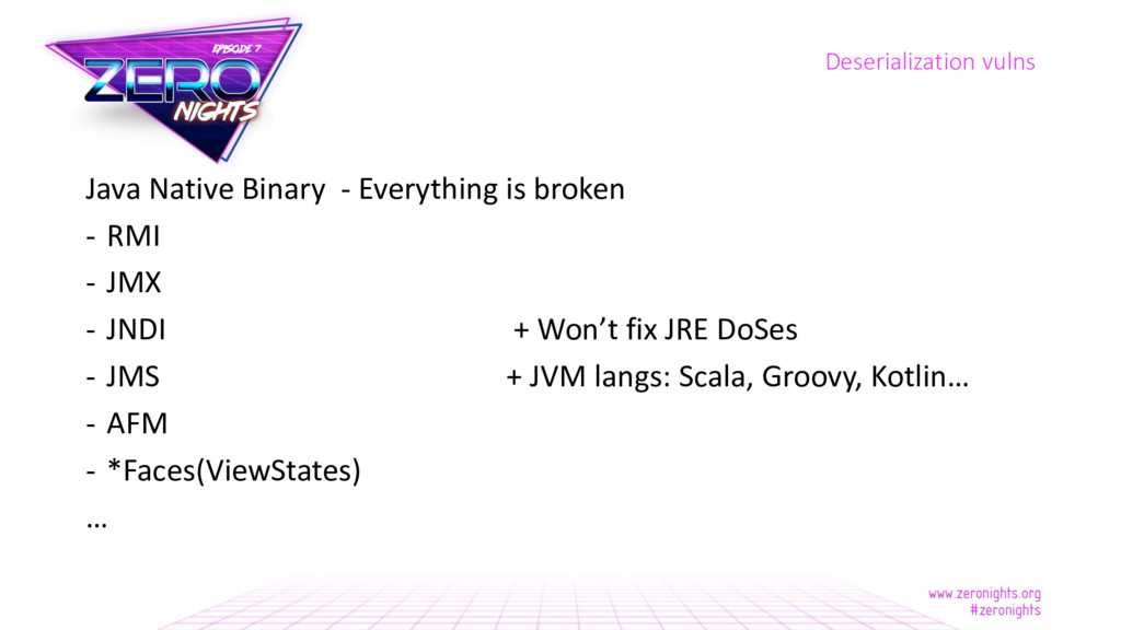 Java Native Binary - Everything is broken - RMI...