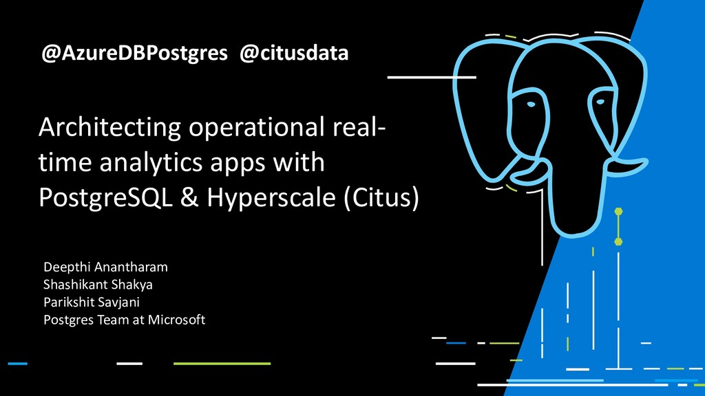 Architecting operational real- time analytics a...