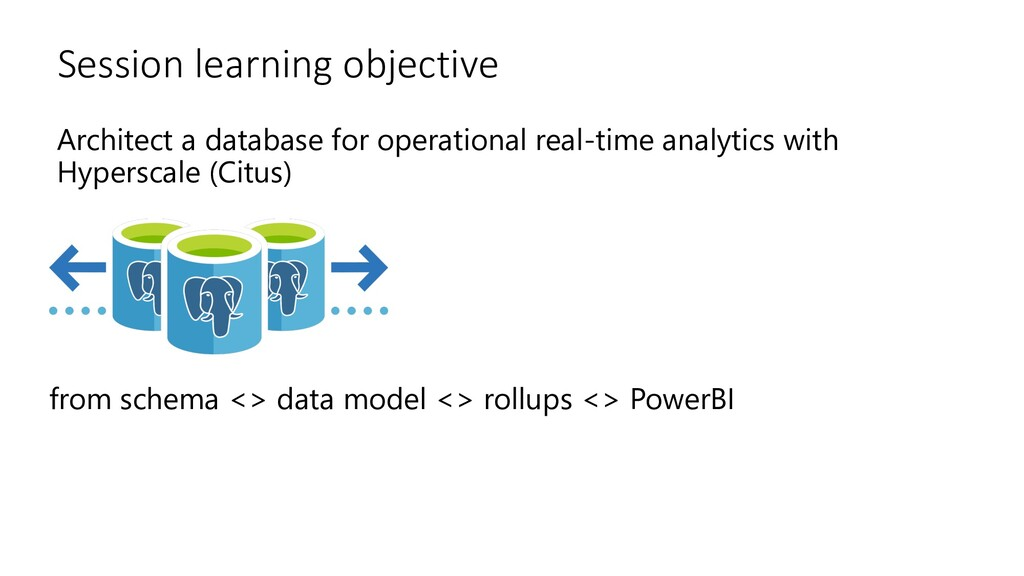 Session learning objective Architect a database...