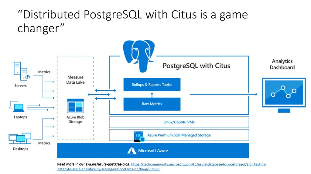 """""""Distributed PostgreSQL with Citus is a game ch..."""