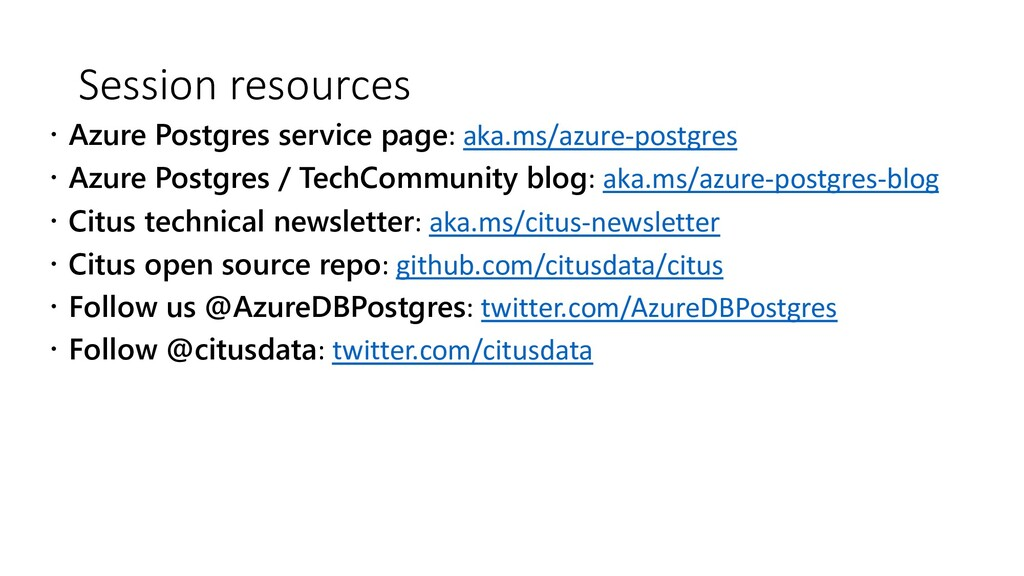 Session resources ž Azure Postgres service page...