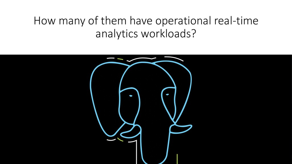 How many of them have operational real-time ana...