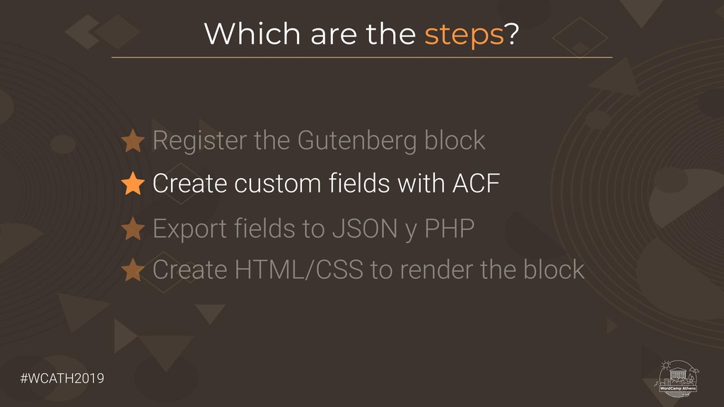 #WCATH2019 Register the Gutenberg block Which a...