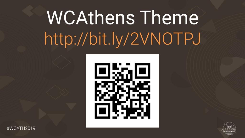 #WCATH2019 WCAthens Theme http://bit.ly/2VNOTPJ
