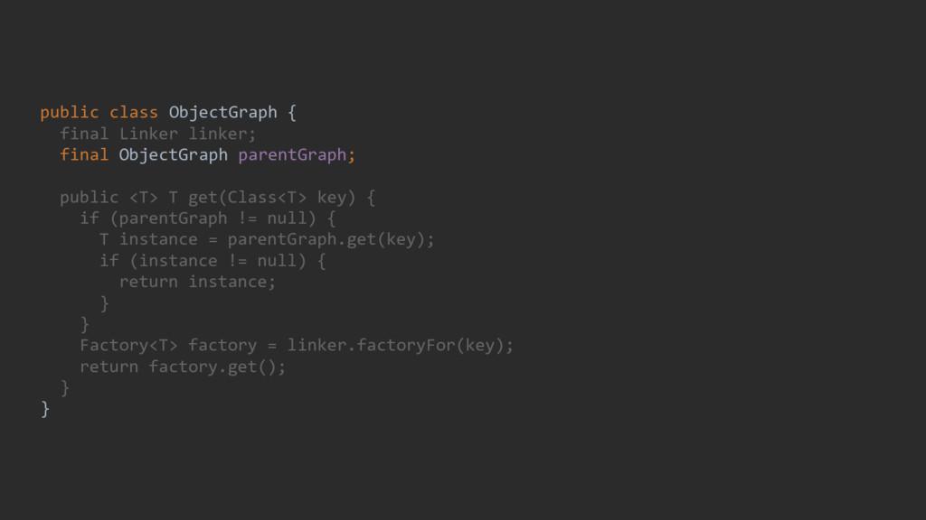 public class ObjectGraph { final Linker linker;...