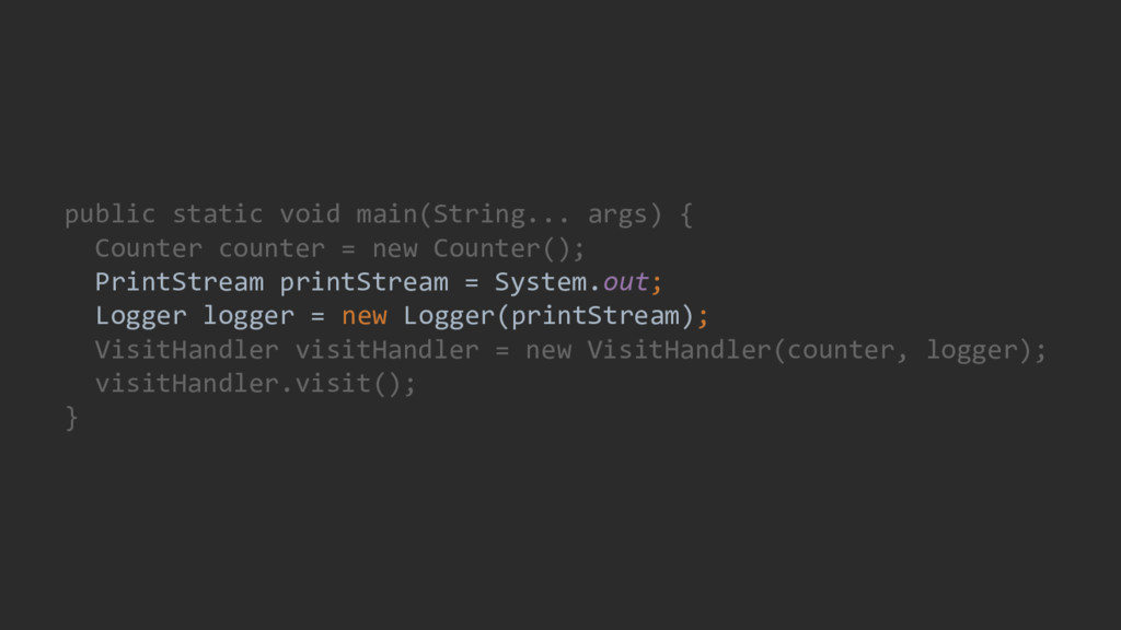 public static void main(String... args) { Count...