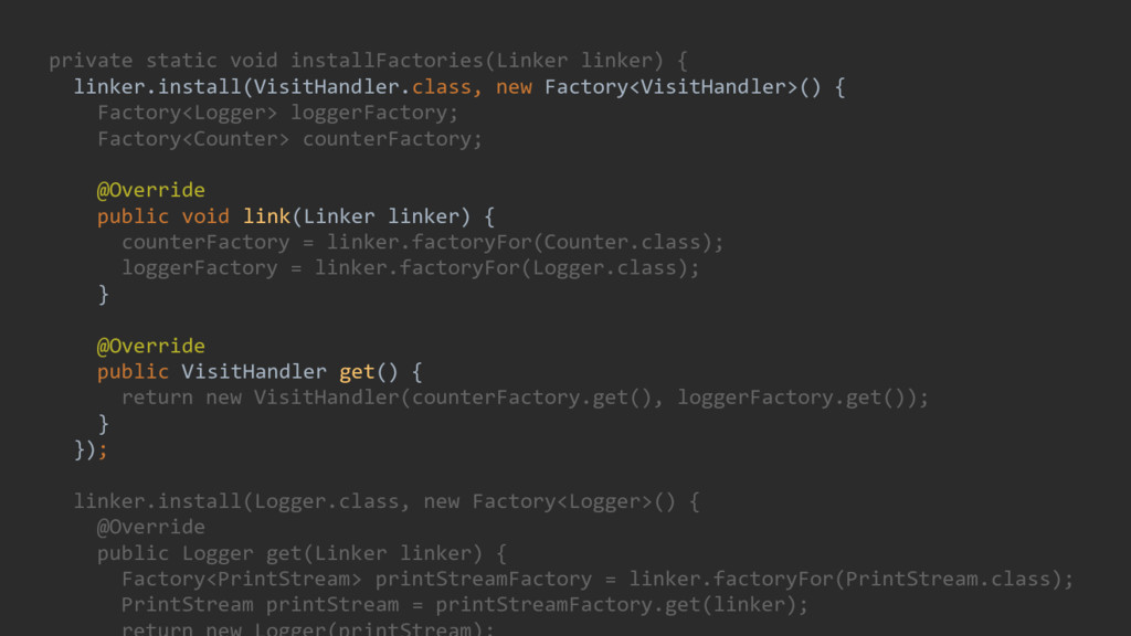 private static void installFactories(Linker lin...