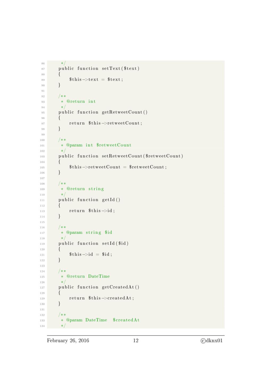 86 ∗/ 87 public function setText ( $text ) 88 {...